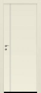 דלת פנים פסי ניקל 2 לאורך צד ידית שמנת