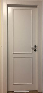 דלת אפוקסי - 2 פאנל כפרי לבן