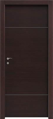 דלתות פנים פסי ניקל 2 רוחב עליון ותחתון וונגה