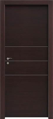 דלתות פנים פסי ניקל 3 רוחב וונגה