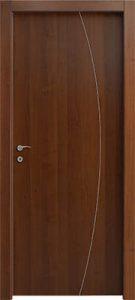 דלתות פנים פס ניקל קשת בודד צד צירים אגוז
