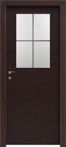 דלתות פנים צוהר חצי דלת מחולק ל-4 וונגה
