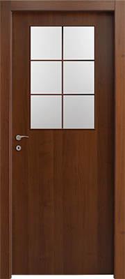 דלתות פנים צוהר חצי דלת מחולק ל-6 אגוז