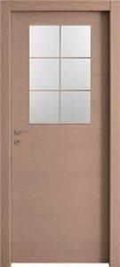 דלתות פנים צוהר חצי דלת מחולק ל-6 אלון מולבן