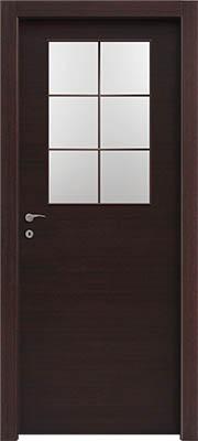 דלתות פנים צוהר חצי דלת מחולק ל-6 וונגה