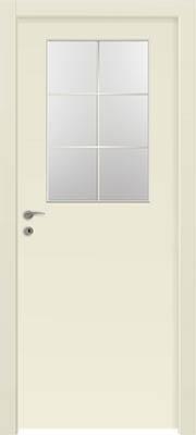 דלתות פנים - צוהר חצי דלת מחולק ל-6 שמנת