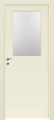 דלתות פנים - צוהר חצי דלת שמנת