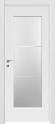 דלתות פנים - צוהר יפני מחולק ל-3 לבן