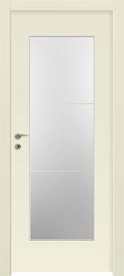 דלתות פנים - צוהר יפני מחולק ל-3 שמנת