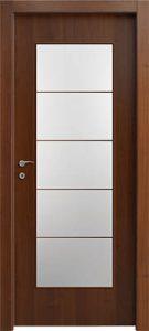 דלתות פנים צוהר יפני מחולק ל-5 אגוז