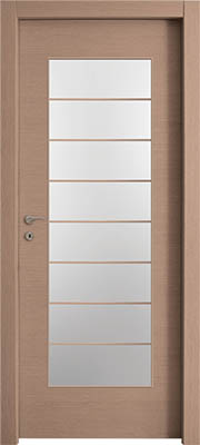 דלתות פנים צוהר יפני מחולק ל-8 אלון מולבן