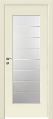דלתות פנים - צוהר יפני מחולק ל-8 שמנת