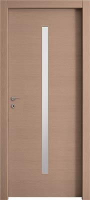 דלתות פנים צוהר מעלית 8X160 במרכז הדלת אלון מולבן