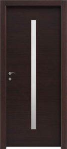 דלתות פנים צוהר מעלית 8X160 במרכז הדלת וונגה