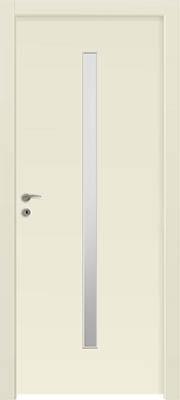 דלתות פנים - צוהר מעלית 8X160 במרכז הדלת שמנת