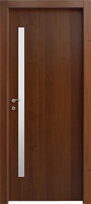 דלתות פנים צוהר מעלית 8X160 צד ידית אגוז